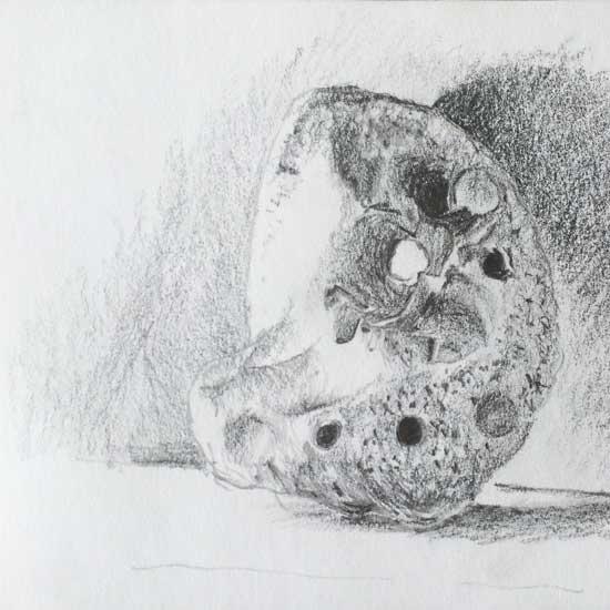 drawing of a fishing weight limestone