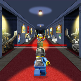 Lego Blue Diamond Chase game screen shot